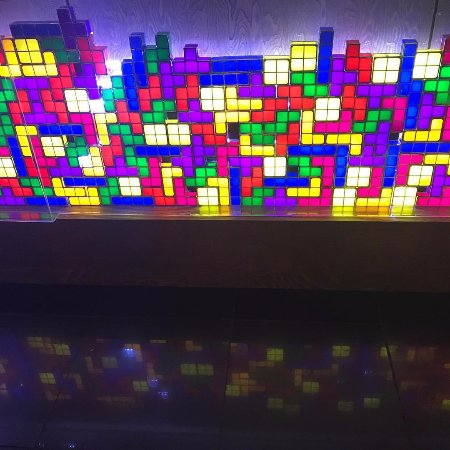 Do you know how long it took to make this tetris wall? 3 weeks plus
