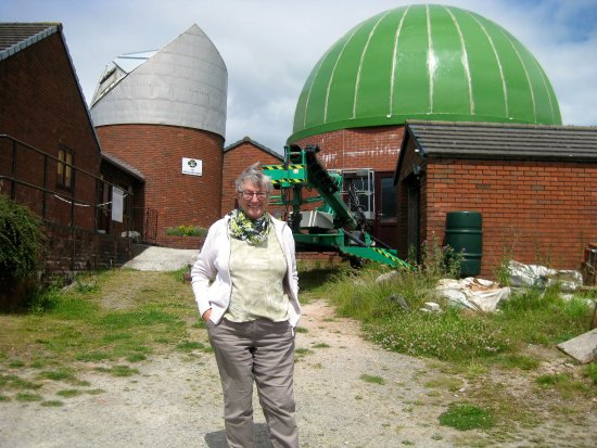 Knighton, UK: Finishing touches to the new green dome soon to take place.