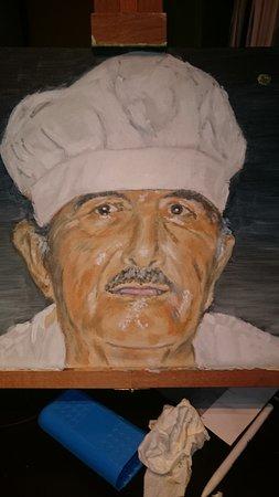 Μανώλης Ταβέρνα Εστιατόριο: Manolis as a painting