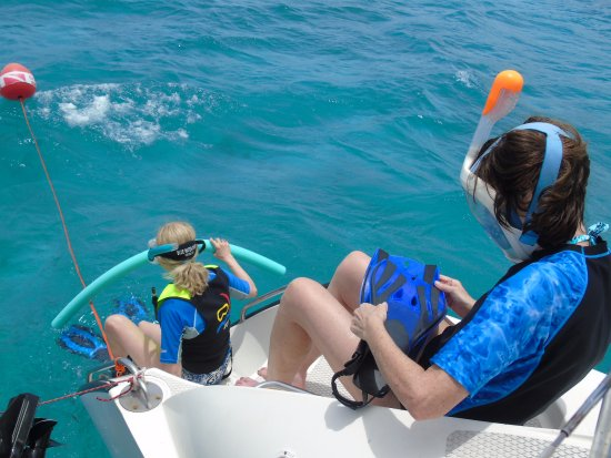 Jolly Harbour, Antigua: heading into the water
