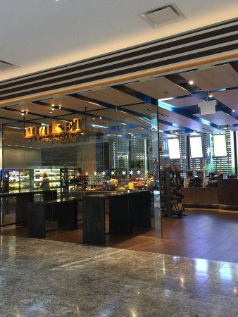 Great location. Great lobby/bar area