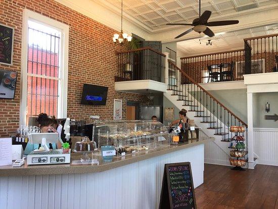 Interior shot of Crossroads Coffee Shop in Onley, VA