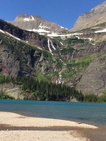 Swan Mountain Outfitters Day Tours: View at Grinnell Lake