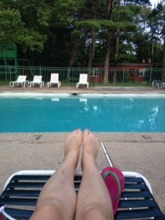 Cresco, PA: Impresive 8' deep pool!