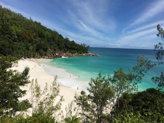 "Anse Georgette: View from lookout ""the lost thee"""