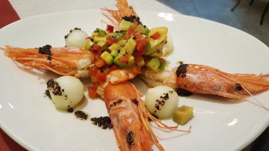 Santa Coloma de Queralt, Espanha: Ensalada de lagostinos