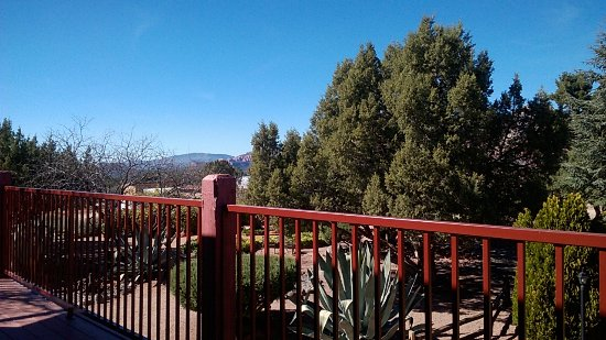 Sky Ranch Lodge: Blick vom Balkon