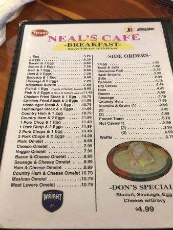 Neal S Cafe Springdale Ar