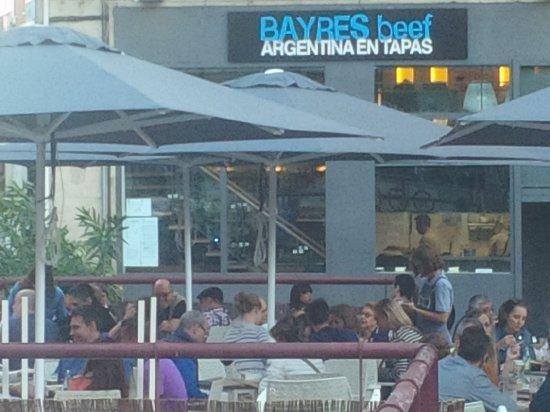 Bayres beef Argentina en tapas: Nueva terraza BAYRES beef