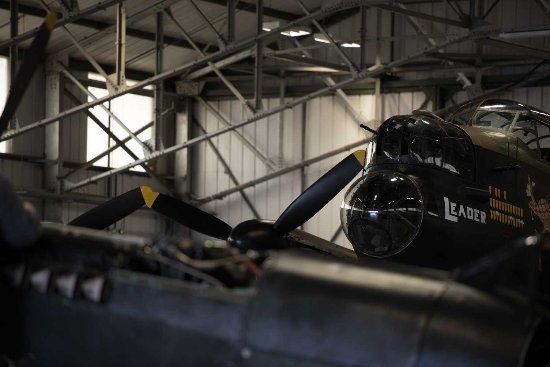 Lancaster in Background with the Engine cover off the