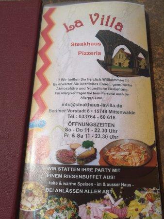 Mittenwalde, Alemania: информация о ресторане