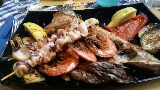 Grigliata mista di pesce foto di osteria il porto for Il porto torino