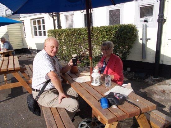 Bletchingley, UK: A beer in the garden