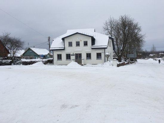Zidikai, Litauen: Museum in winter