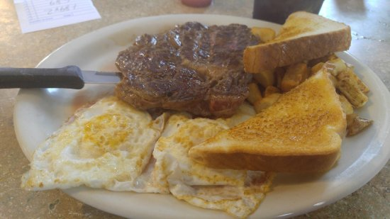 Childress, TX: Steak and eggs