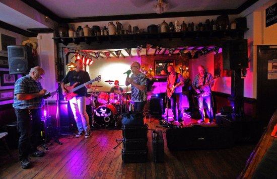 Horsham, UK: sound check for live music