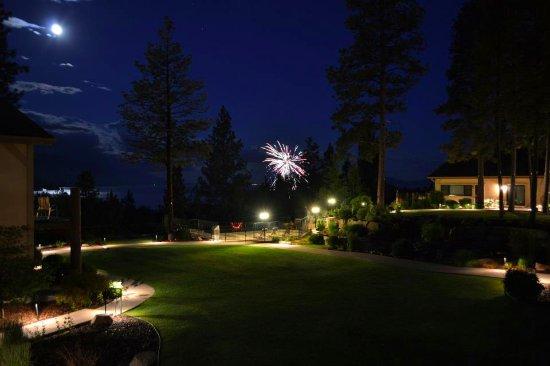 Bigfork Mountain Lake Lodge: 4th of July Fireworks Across the Flathead Lake Sky