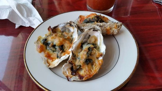 Piney Point, MD: We split the Oyster Rockefeller, there were six.