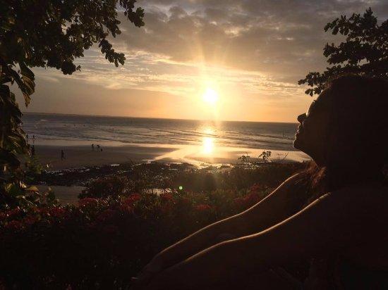 Pousada Jeriba: Contemplando o pôr do sol.