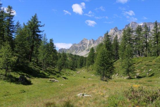 Baceno, Włochy: Il lericeto che si traversa per raggiongere il lago