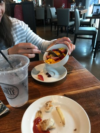 The Woodlands, TX: Fruit cup for our grandson by wait staff