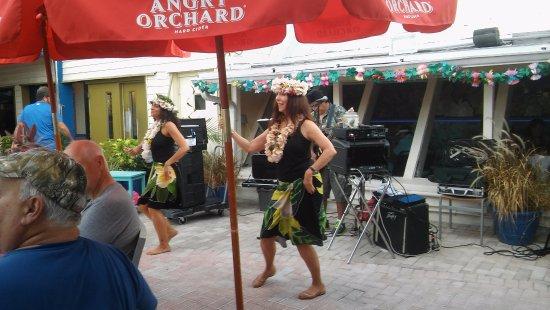 Redington Shores, FL: The dancers for Luau night!
