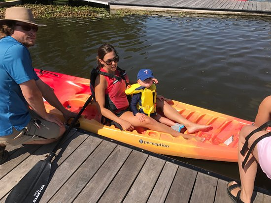 The Woodlands, TX: Grandsons first boat ride
