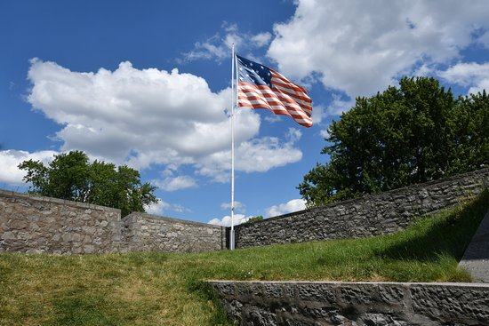 Beautiful Old Glory Flying Proud above the OLD Fort Erie.