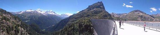Finhaut, Schweiz: vue du barrage