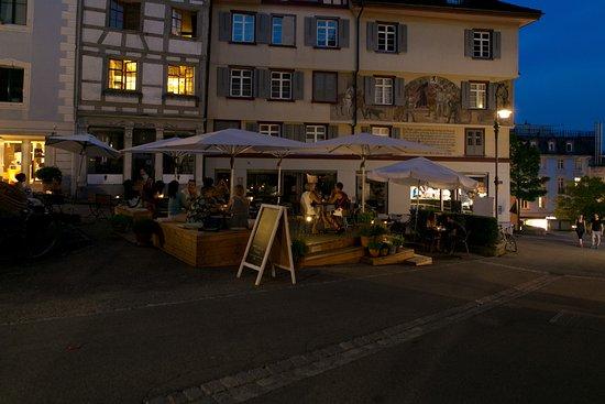 Wil, Suiza: Abendstimmung Terrasse La Moka
