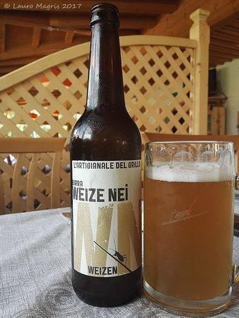 Santo Stefano di Cadore, Italia: Birra Artigianale del Grillo:  Weizen di colore giallo oro, 5°