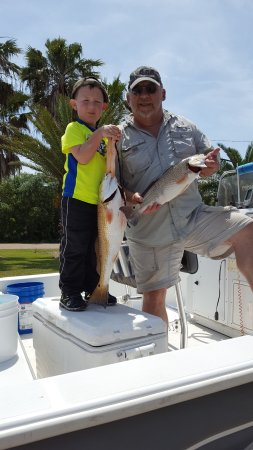 New Iberia, LA: capt. Brian and Poppa Stoppa (grandson) had a great day of fishing 4/13/2017