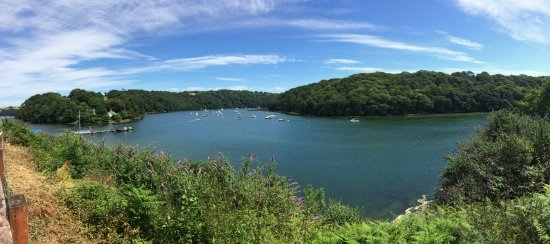 Honiton, UK: Looking out to River Fal from Malpas