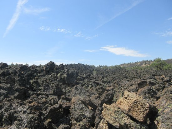 Tulelake, Californien: Lava landskab