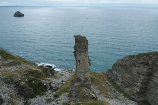 Trebarwith, UK: One of the abbandoned quarries