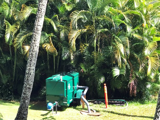 Marriott's Kaua'i Beach Club: Pump down manhole outside villa