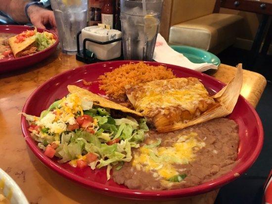Combination 2 Enchilada Tamale Taco Picture Of Hacienda Mexican Restaurant Bar Delray Beach Tripadvisor