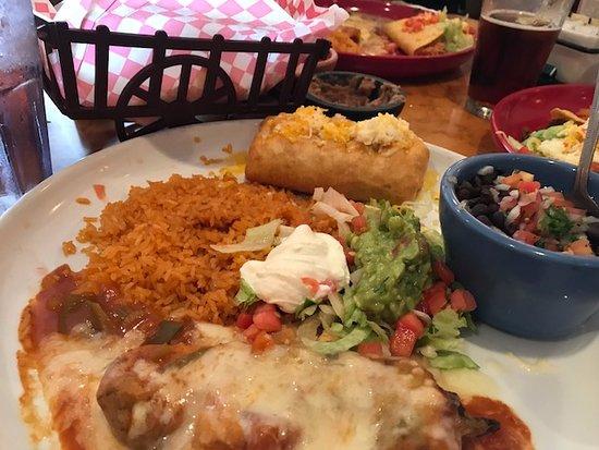 Combination 19 Chimichaga Chile Relleno Picture Of Hacienda Mexican Restaurant Bar Delray Beach Tripadvisor