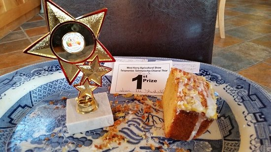 Tig Aine: Tig Áine Lemon Drizzle Cake won joint First Price in West Kerry Agricultural Show today. (5 in a