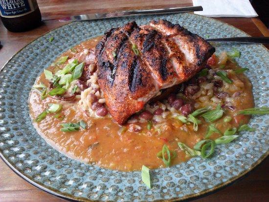 North Beach, MD: blackened salmon cajun style