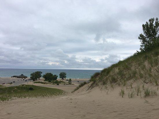 Bridgman, MI: View coming down the mother dune