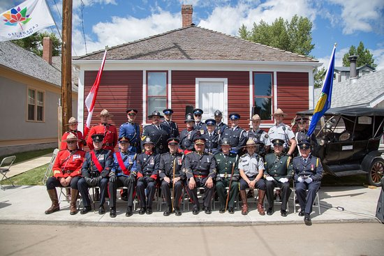 Coleman, Canada: Grand Opening of the Alberta Provincial Police Barracks