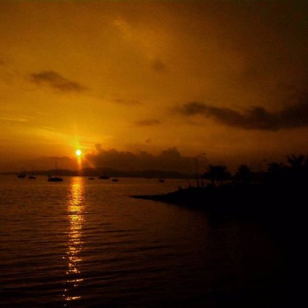 The sunset view at the Tanjung Tirai View Cafe the most romantic moment while eating