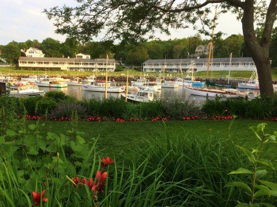 Belle vue sur les bateaux à Perkins Cove;