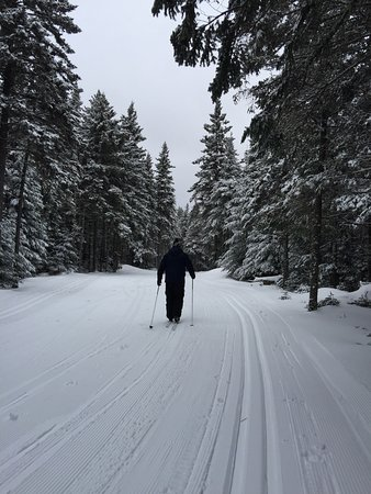 Mount Van Hoevenberg : Great place for cross country skiing. The cabin in the woods with hot chocolate is adorable