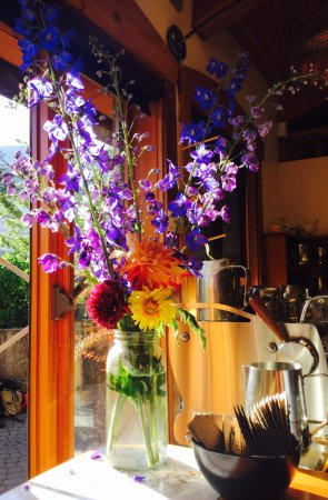 Nelson, Canadá: flowers on the ordering area
