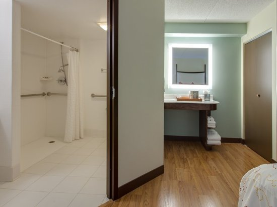 Vernon Hills, IL: ADA/Handicapped accessible Guest Bathroom with roll-in shower