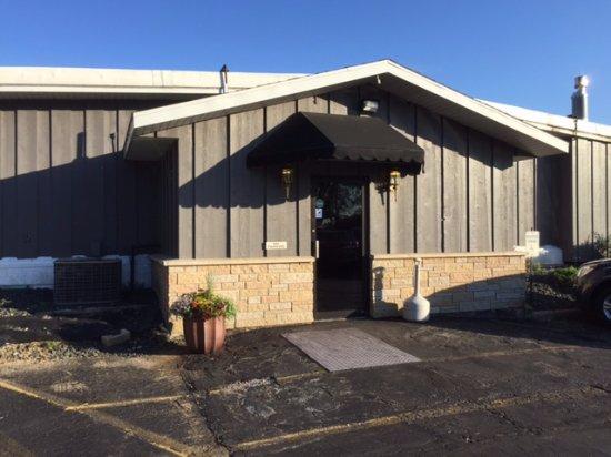 Prairie du Chien, WI: The outside entrance.