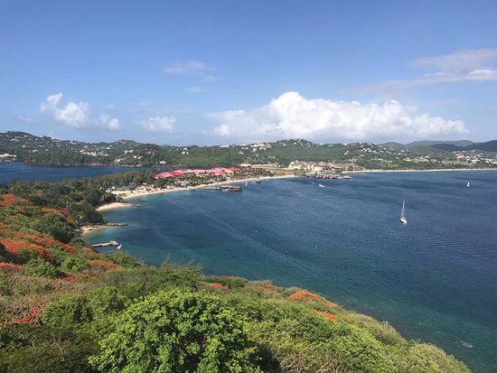 Gros Islet Quarter, Santa Lucía: View from Top of Fort Rodney- Pigeon Island