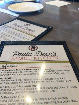Menu Picture Of Paula Deen S Family Kitchen Myrtle Beach